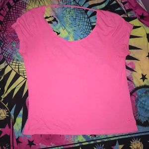 PINK rare open back top XS/S